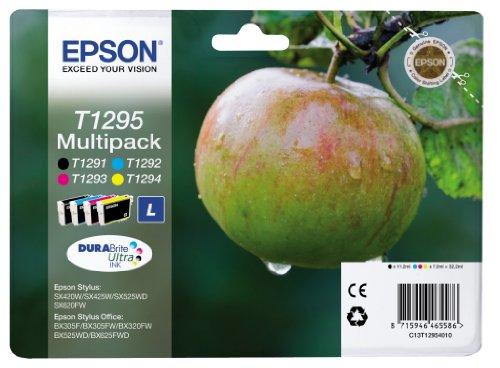 Epson T1295 Tinte, Apfel, wisch- und wasserfeste (Multipack, 4-farbig) (CYMK)
