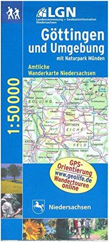 Topographische Sonderkarten Niedersachsen. Sonderblattschnitte auf der Grundlage der amtlichen topographischen Karten, meistens grösseres ... Wanderkarte 1:50.000 / Göttingen und Umgebung