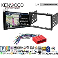 Volunteer Audio Kenwood DNX874S Double Din Radio Install Kit with GPS Navigation Apple CarPlay Android Auto Fits 2001-2002 Mazda 626