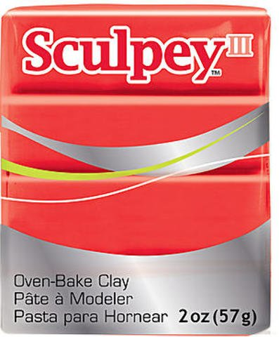 (Sculpey Iii Polymer Clay 2oz-Red Hot Red)