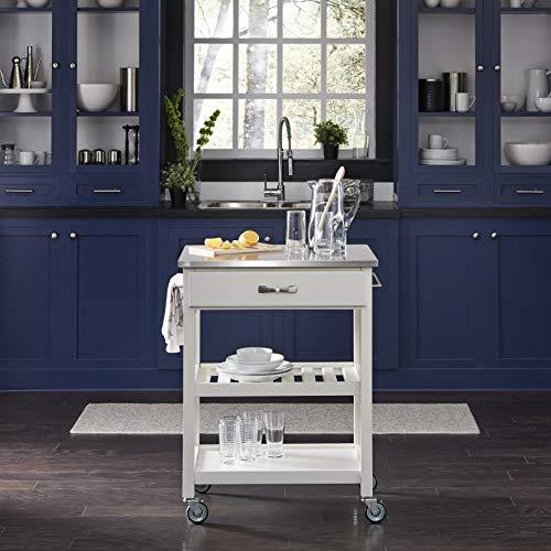 Home Styles 5213-95 Vineyard Kitchen Cart, White