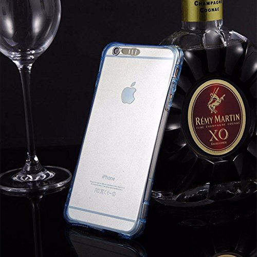 König-Shop Handy Hülle LED Licht bei Anruf für Handy Apple iPhone X Blau - Bumper Case Cover