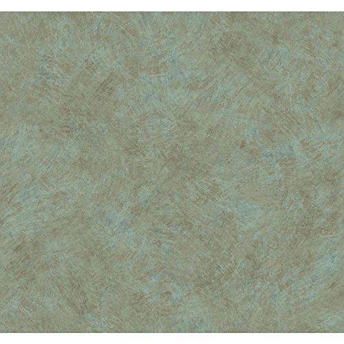 York Wallcoverings Texture Portfolio Brushstroke Texture Wallpaper 8 X 10 Memo Sample, , teal blue/green, earth brown
