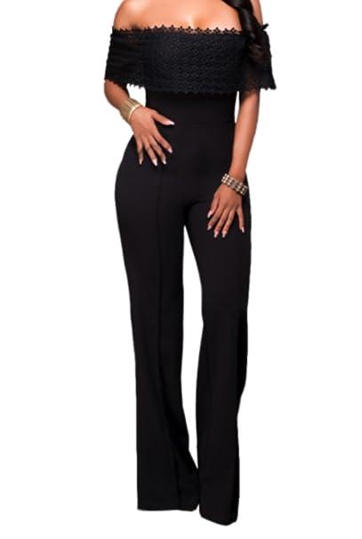 emmarcon Tuta Elegante Pantaloni Lunghi Jumpsuit Vestito Abito da Donna  Casual Scollo Bandeau  Amazon.it  Abbigliamento 287ac7b1a5e8