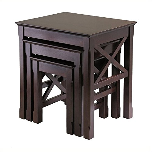 Pemberly Row Nesting Table Set in Cappuccino Finish by Pemberly Row