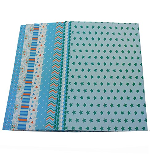 Bastelpapier Dekorpapier 1 kg Motivpapier A4 mit 8 verschiedenen Motiven (Auswahl 2)