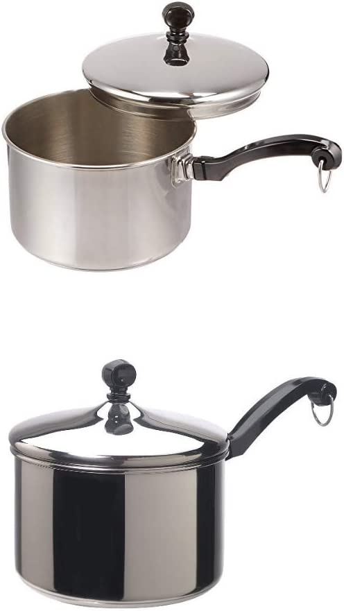 Farberware Classic Stainless Steel 2-Quart Covered Saucepan with Farberware Classic Series Stainless Steel 3-Quart Covered Saucepan