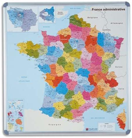 Nobo - Mapa político de Francia (con provincias, magnético, con marco): Amazon.es: Oficina y papelería