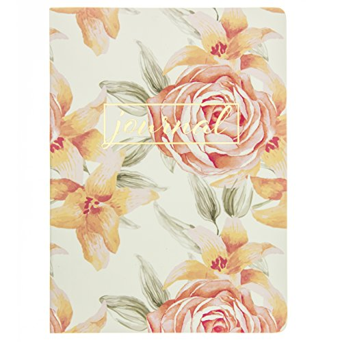 - Graphique Vintage Roses Soft Cover Journal, Gold Foil Embellished Cover w/Floral Background, Beautiful, Durable Notebook for Notes, Lists, Recipes, and More, 200 Ruled Pages, 6