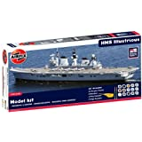 Hornby Airfix A50059 1:350 Scale Royal Navy HMS Illustrious Gift Set Warship Gift Set inc Paints Glue and Brushes