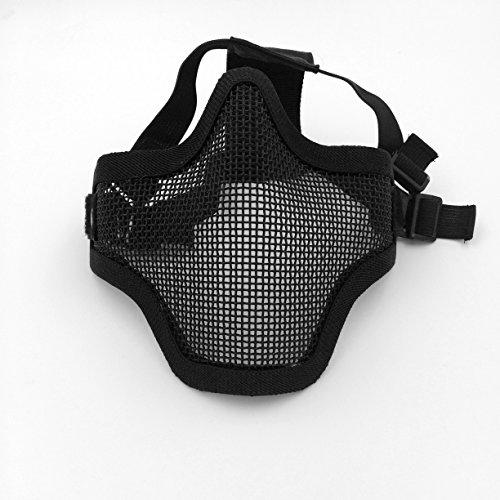 viento protección Anti 2 UV400 sol mascarilla de Cráneo en 1 Ajustable de Malla Gafas acero Deportivas Hx4ZHvfqw