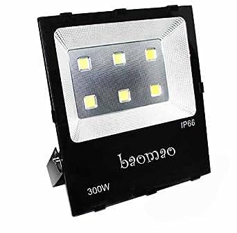 baomao 300W Super Bright Outdoor LED Flood Lights, 1500W Halogen Bulb Equivalent, Waterproof IP66 30000lm, White, 5500K, Security Lights, Floodlight,outdoor lighting,lawn lamps,landscape lighting