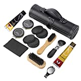Sethjcsy Shoe Care Kit,12-Piece Travel Shoe Shine Brush kit