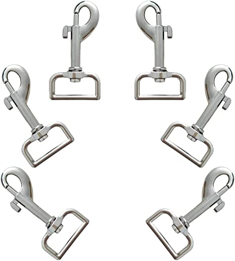 Silver O ring  Spring Hook Push Gate Snap Hook  Key Chain Metal Clasp  for  Leather and Fabric Clasp Size with 32mm35mm