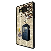 477 - Vintage News alice in wonderland Doctor Who Tardis Call Box butterflies Design For Samsung Galaxy Grand Prime Fashion Trend CASE Back COVER Plastic&Thin Metal