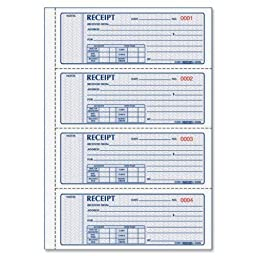 Rediform MONEY RECEIPT BOOK, 7 X 2 3/4, CARBONLESS DUPLICATE, 200 SETS/BOOK, 5 EA