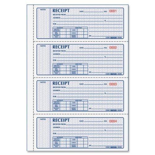 Rediform MONEY RECEIPT BOOK, 7 X 2 3/4, CARBONLESS DUPLICATE, 200 SETS/BOOK, 5 EA ()