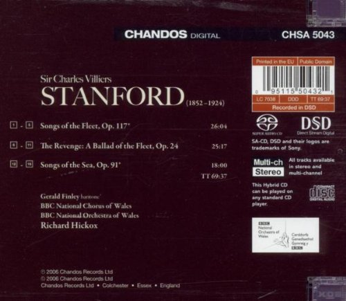 Stanford: Orchestral Songs - The Revenge: A Ballad of the Fleet; Songs of the Sea; Songs of the Fleet