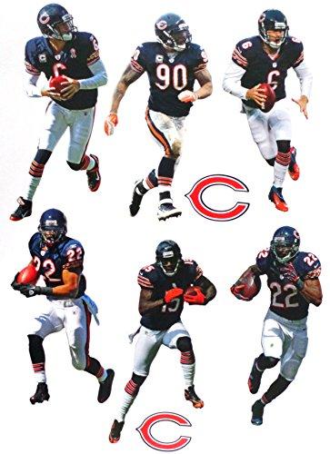 - FATHEAD Chicago Bears Mini Team Set 6 Players + 2 Bears Logo - Official NFL Vinyl Wall Graphics - Each Player 7
