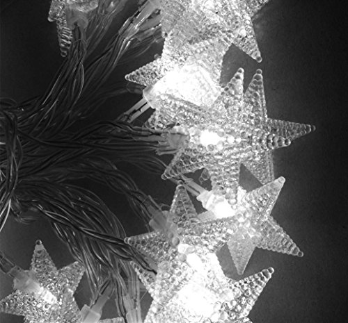 TINNZTES 4m/13ft 40 LED Star Light Fairy String Light for Hotel Home Weddings Family School Party (Cool White)