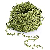 Lvydec Artificial Vines Fake Greenery Garland Willow Leaves with Total 30 Stems Hanging for Wedding Party Home Garden Wall Decoration