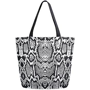 Amazon.com: Sun Kea Fashion Women Snakeskin Tote Handbag