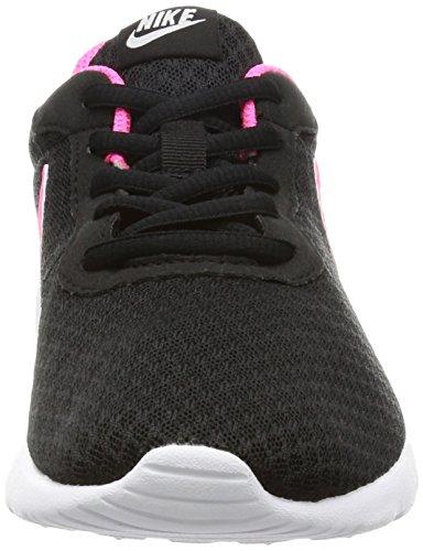 NIKE Kids Tanjun (GS) Black/Hyper Pink White Running Shoe 4 Kids US by Nike (Image #4)