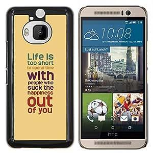 - TEAL PEACH LIFE RED SHORT TOO IS - Caja del tel¨¦fono delgado Guardia Armor- For HTC One M9+ / M9 PLUS Devil Case