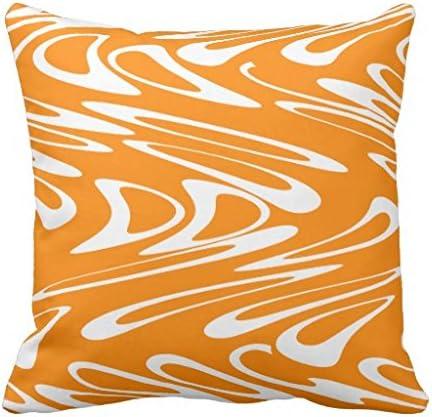 Cuscini Arancioni Per Divano.Fodere Per Cuscini Per Divano Quadrato Arancione E Bianco Retro
