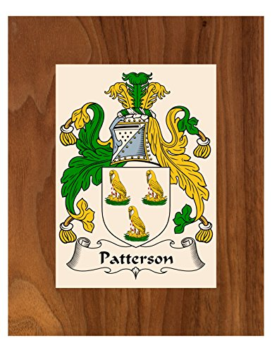 Patterson Coat of Arms / Patterson Family Crest 8X10 Photo
