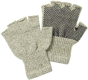 Fox River Fingerless Gripper Glove, Brown Tweed, Small