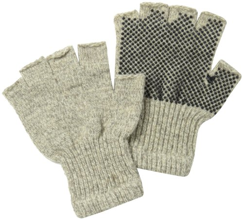 Fox River Fingerless Gripper Glove, Large, Brown - Magic Gloves Gripper