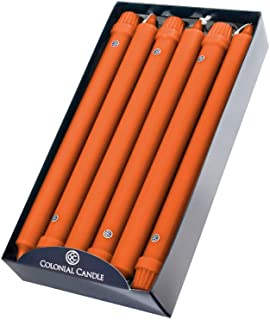 product image for Colonial Candle Classic Taper Candle, 12 Inch, Pumpkin, pack of 12