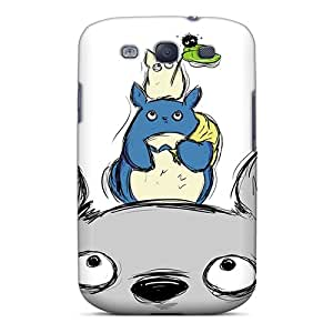 Shock Absorbent Hard Cell-phone Cases For Samsung Galaxy S3 With Support Your Personal Customized Lifelike Totoro Skin LauraAdamicska