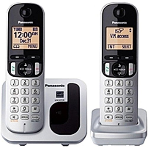 (Panasonic KX-TGC212S DECT 6.0 1.90 GHz Cordless Phone - Silver - Cordless - 1 x Phone Line - 1 x Handset - Speakerphone - Caller ID - Yes - Backlight consumer electronics)