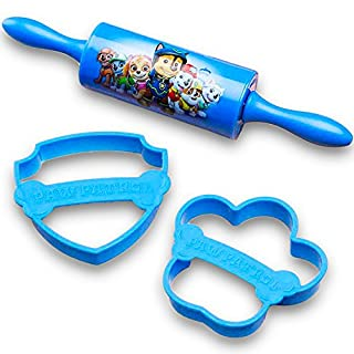 Nickelodeon PWPE-S100 Lets Rolling Pin Cutters for Cooking Patr Paw Patrol 3-piece Kids Baking Set for Cookies by Zak! Designs, 0, Boy (B01L1HL94G) | Amazon price tracker / tracking, Amazon price history charts, Amazon price watches, Amazon price drop alerts