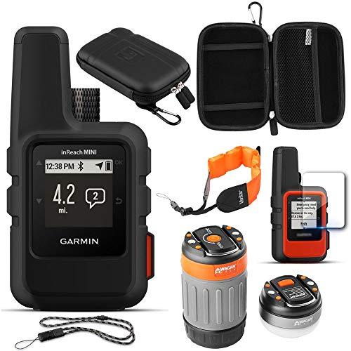 Garmin inReach Mini GPS (Black) with Acessories Bundle