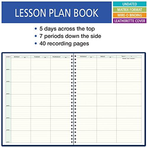 7 Period Teacher Lesson Plan; Days Horizontally Across the Top (W101)
