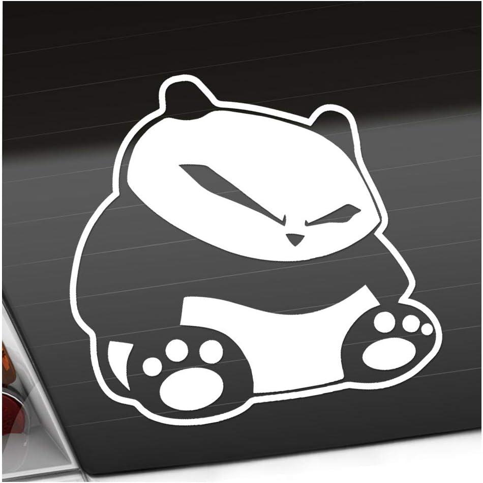 Fieser Panda 10 5 X 10 Cm In 15 Farben Neon Chrom Sticker Aufkleber Auto