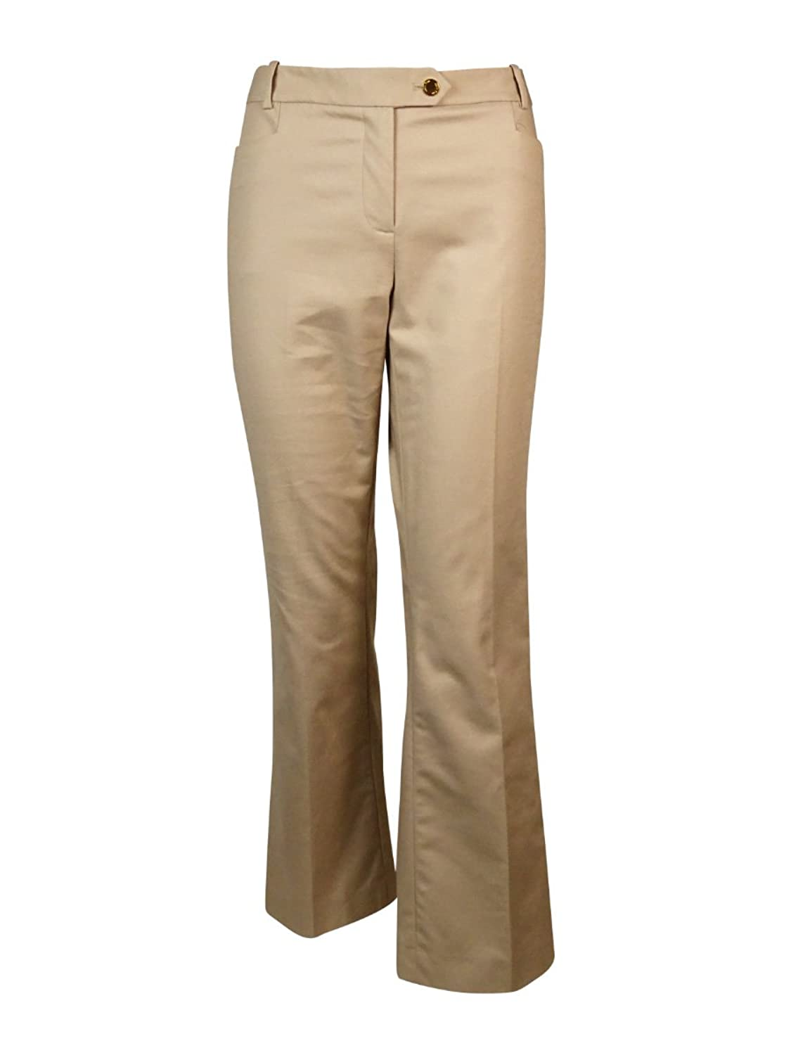 Calvin Klein Womens Petites Solid Modern Fit Dress Pants
