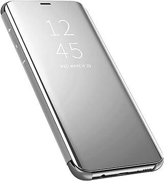 QBER para Samsung Galaxy A80 Funda, Clear View Standing Cover PU ...