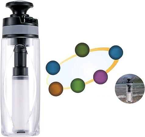APXZC Botella de Filtro de purificador de Agua de Viaje portátil ...