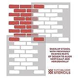 Bricks Stencil Wall Pattern - Wall Painting