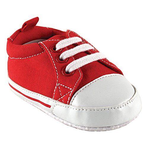 Luvable FriendsBasic Canvas Sneaker - K - Basic Canvas Sneaker - K Bebitos Niños, unisex, Rojo, 0-6 Meses M US Infantil