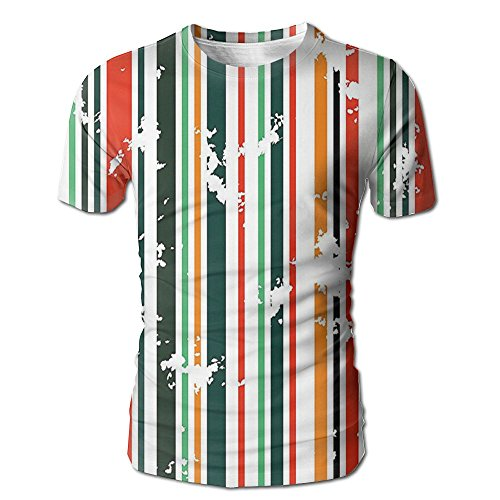 Edgar John Colorful Stripes Bold Lines On A White Backdrop Men's Short Sleeve Tshirt M (Stripe Polo Jersey Bold)