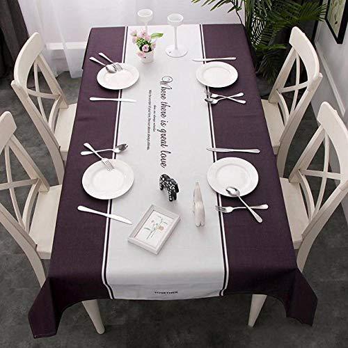 C 140180cm Myzixuan Chanvre coton tissu nappe Simple table basse livre nappe imperméable à l'eau huile-preuve anti-table à repasser nappe