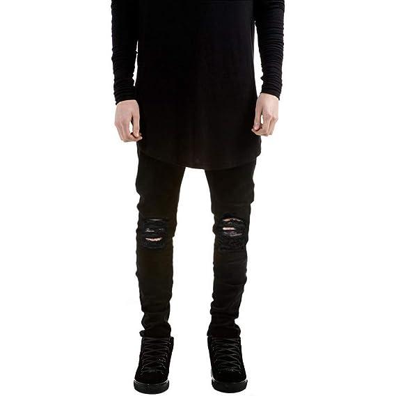 VENMO Herren Destroyed Jeanshose Jeans Hose Stretch Freizeithose Denim Slim Fit Joggerhose Sporthose Trainingshose Mens Skinn