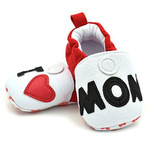 Vesi-Zapatos para bebé Primeros Pasos Zapatillas Infantiles para Niño/Niña Antideslizante Respirable Abeja Talla M:6-9 Meses Amo a mamá