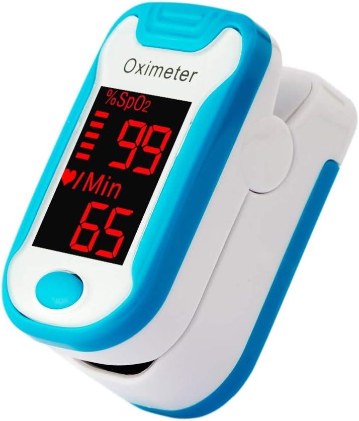 Dafengchui Dedo, Tipo Pinza Tipo pulsioxímetro LED oxímetro de Hogares for niños y Adultos (Color : Blue)