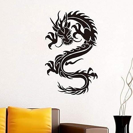 Dragón de estilo chino pegatinas de pared para habitaciones de ...